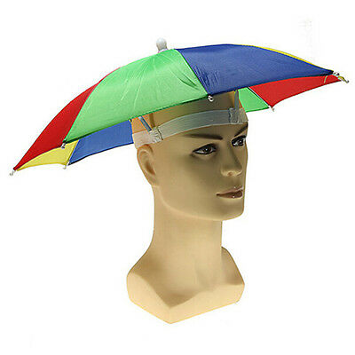 Hands Free Sun Umbrella Shade Hat Cap Foldable MultiColor Outdoor Golf Fishing