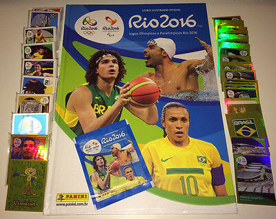 Panini Rio 2016 Olympic Games Complete Hardcover Album Loose Stickers Packet
