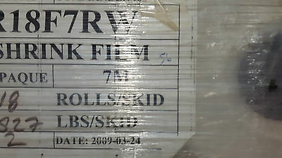 New Old Stock  Marine/Industrial  Shrink  Film Roll - 7  Mil , 18' x 56',  white