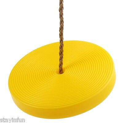 Kids Plastic Disc Swing Hanging Seat Outdoor Toys Playground Fitness Game