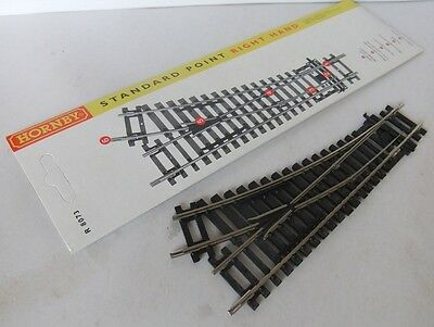 HORNBY RAILWAYS R8073 Right Hand Point / Turnout - Nickel silver rails - (Boxed)
