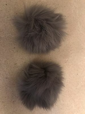 Fur Pom Pom Shoe Clip / Accessory / New Colour* GREY