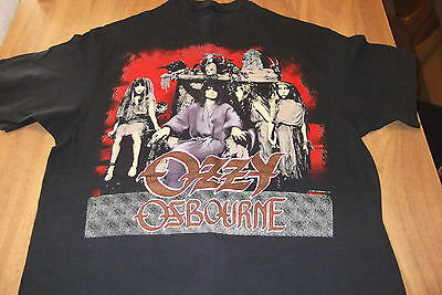 "OZZY OSBOURNE 'NO REST FOR THE WICKED ' tour  tshirt   ""MONOWISE"" 1988 Size L"