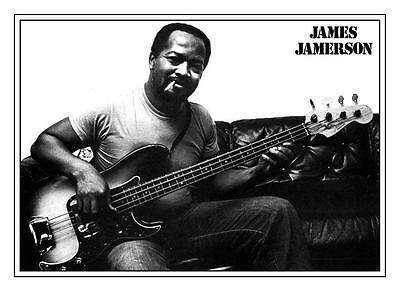 James Jamerson  **LARGE POSTER** Motown R&B Soul FENDER P BASS GUITAR Master