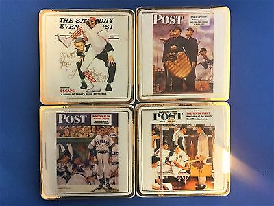 Norman Rockwell Baseball Coasters