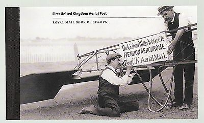 Great Britain 2011 prestige booklet sg dy 2 Aerial Post complete
