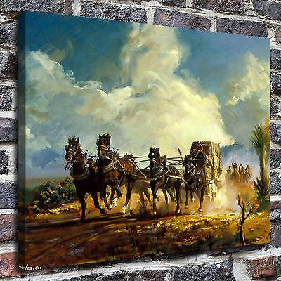 Western Chase Paintings HD Print on Canvas Home Decor Wall Art Pictures posters