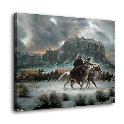 "12""x16""Western cold winter Paintings HD Print on Canvas Home Decor Wall Art"