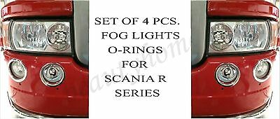 4 pcs. Fog Lights O-Rings For SCANIA R Series Made ​​Of Polished Stainless Steel