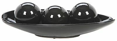 Hosley's Elegant Expressions Black Decorative Bowl and Orb Set