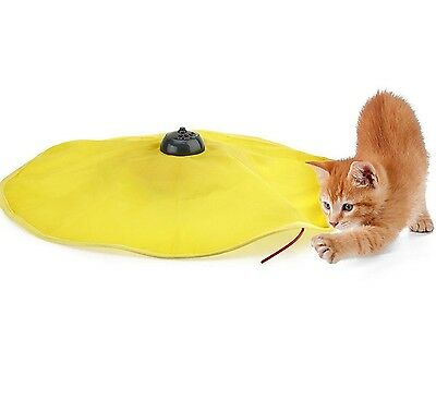 Undercover Mouse Fabric Moving Wand Electronic Interactive Fun Cat Kitten Pet...