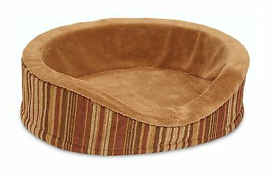 Petmate 27483 Deluxe Oval Lounger with Microban Brown Small (Up to 25 lbs)