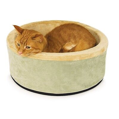 K&H Manufacturing Thermo-Kitty Heated Cat Bed 16-Inch Sage