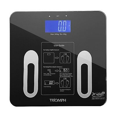Triomph Digital BMI Body Fat Scale with Smart Step-On Technology 10 Users 400...