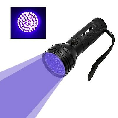 Vansky 51 LEDs Blacklight Flashlight Pets Ultra Violet Urine and Stain Detect...