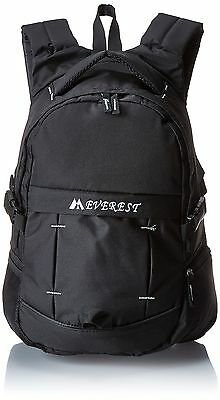 Everest Sporty Backpack with Side Mesh Pocket Black One Size