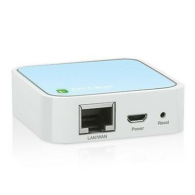 TP-Link TL-WR802N Wireless N300 Travel Router Nano Size Router/AP/Client/Brid...
