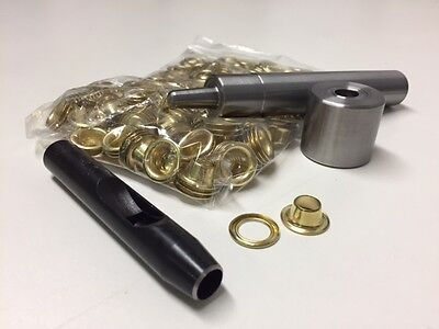 11mm Eyelets Grommets Washers Metal Hole Punch Kit Fabrics Swatchs - 100 Pcs
