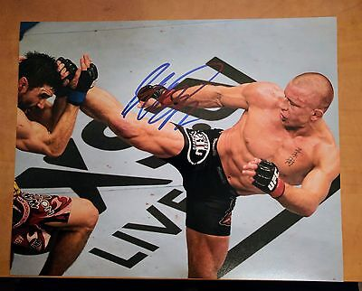 Georges St Pierre Signed 8x10 UFC Photo