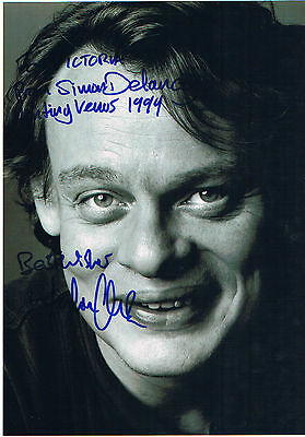 Martin Clunes  -  Hand Signed Black and White Photograph 12 x 9 Inches