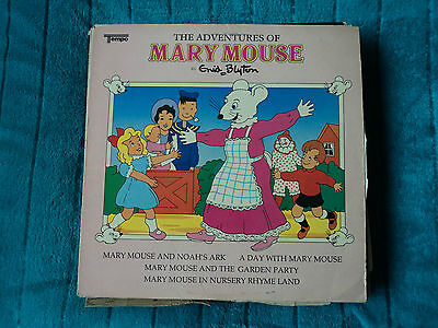 """The adventures of Mary mouse by enid blighton vinyl children's record 12"""" cute"""