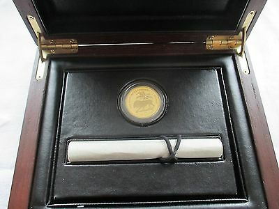 2014 The East India Company and St Helena Gold Proof  Mohur One Pound coin