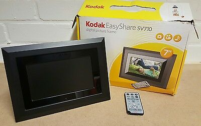 Kodak Easy Share Sv710 Digital Photo Frame With Remote Control Boxed.