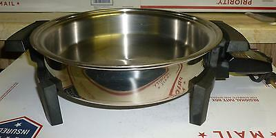 VTG*West Bend*Liquid Core*Stainless Steel*Skillet*Electric*17209*Tested*NICE*BIN