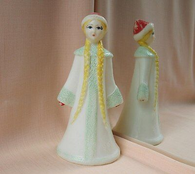Snow Maiden - Vintage GIRL Xmas Decor Ornament Soviet Russian Christmas Toy USSR