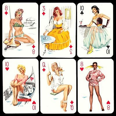 Variante 1 HEINZ VILLIGER DARLING PIN UP Playing-Cards SPIELKARTEN 1950er Jahre