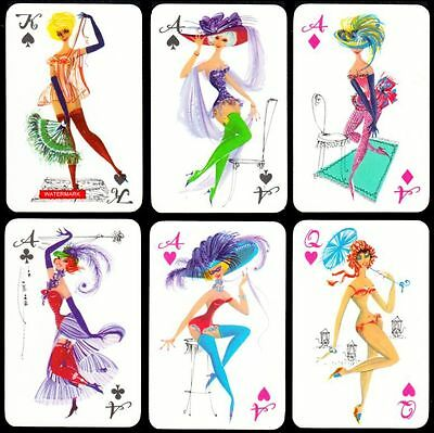 2x52 + 6JOKER PIN UP Playing-Cards SPIELKARTEN KARTENSPIEL 1960 PIN-UP Cards