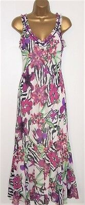 NEW LADIES PER UNA MAXI DRESS SIZE 12  Long , Floral Summer Holiday Dress