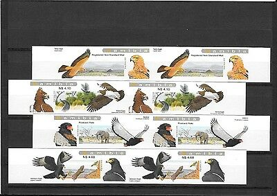 Rare Namibia Stamps - 2009 Eagles Set of 4 pairs imperf u/m
