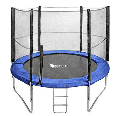 Trampoline Safety Net Enclosure Padding Ladder 8/10/12/14FT Kids Adults 100Kg