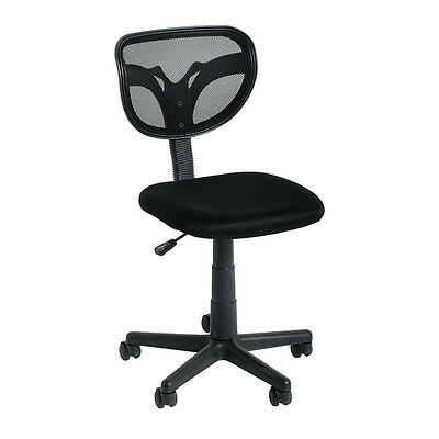 Computer Desk Chairs Black on Wheels Budget Economy with Backrest
