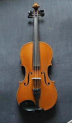 OLD ANTIQUE FULL SIZE GERMAN VIOLIN BACK LENGTH 361mm.