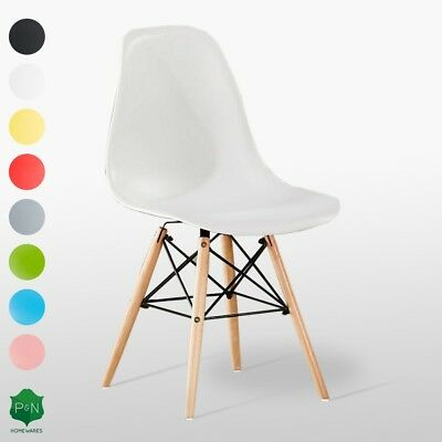 Eiffel Moda Style Chair DS ABS Plastic, Retro White Black Grey Red Yellow Pink