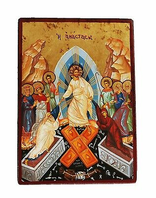 Greek Russian Orthodox Lithography Icon Resurrection of Christ 10x14.5cm