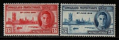 1946 Somaliland Protectorate George Vi Victory Stamp(Mh) S.g.117,118