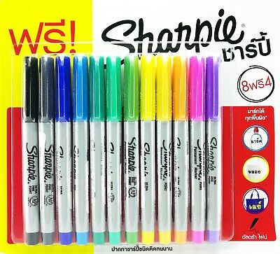 Sharpie Ultra Fine Marker Permanent Assorted Pack 12 Promotion