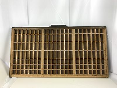 Hamilton Printers Tray Drawer Shadowbox 32 X 16.5 - 147 Boxes - Lot A
