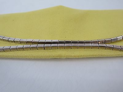 Vintage Navajo Sterling Silver Square Bead Necklace, 24 inches