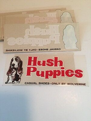 Vintage 1970's Hush Puppies Shoes Door Window Advertising Display Sticker