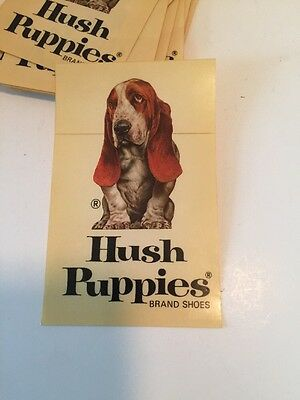 Vintage 1970's Basset Hound Hush Puppies Shoes Advertising Door Sticker