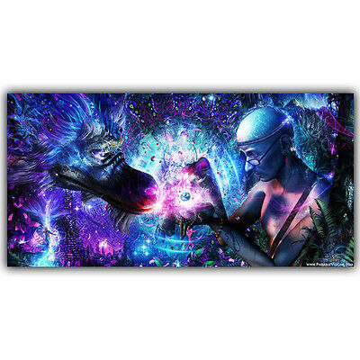 Psychedelic Trippy Abstract Soul Universe Cameron Gray Spiritual Art Silk Poster