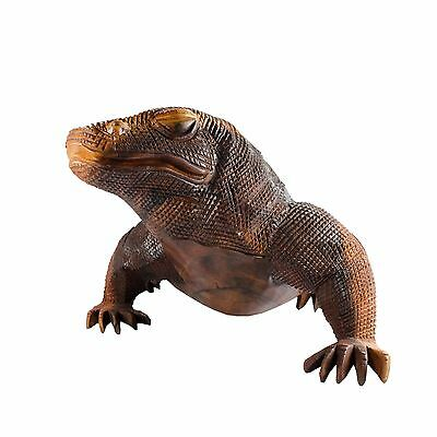 Komodo Dragon Wood Carving From Bali -  8.5 lbs and 24.5 inches long
