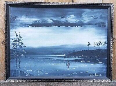 Modern Canvas Wall Art Print Abstract Landscape Painting Decor Picture Framed Jo