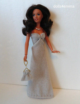 Kenner DARCI Doll Clothes Shimmery Gown + Purse + Jewelry HM Fashion NO DOLL d4e