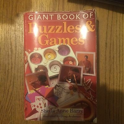 Giant Book of Puzzles and Games by Sheila Anne Barry (1997, Paperback)