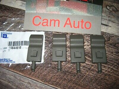Chevy GMC Cadillac Turck SUV Front or Rear Door Lock Latch Knobs  Gray NEW  OEM